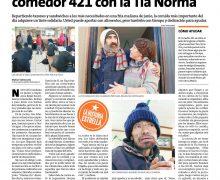 Diario La Estrella destacó la labor del Comedor 421